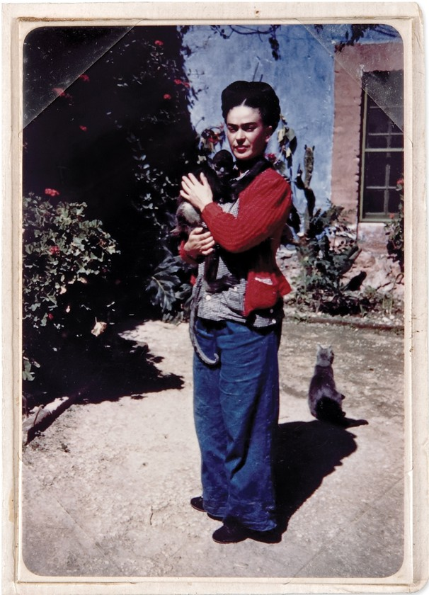 This 1938 image is striking not only due to the color, but to the similarity to a number of self portraits (see below)