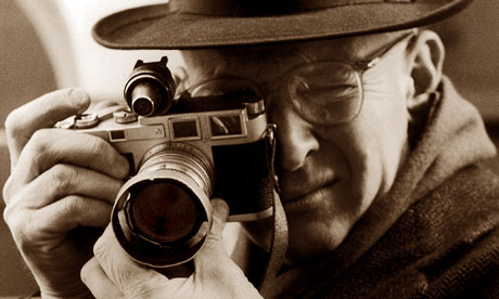 Henri Cartier-Bresson with his Leica in 1957